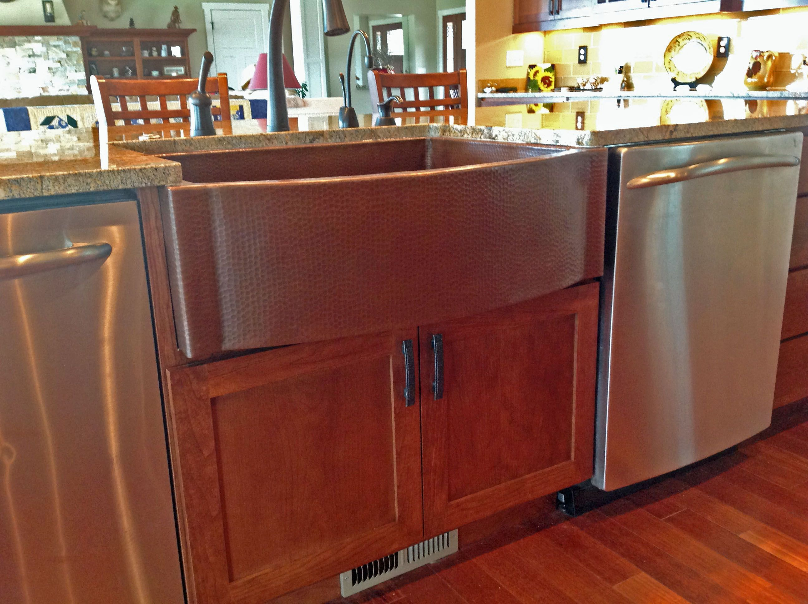 A Beautiful Cafe Natural Finish On This Copper Farmhouse Kitchen