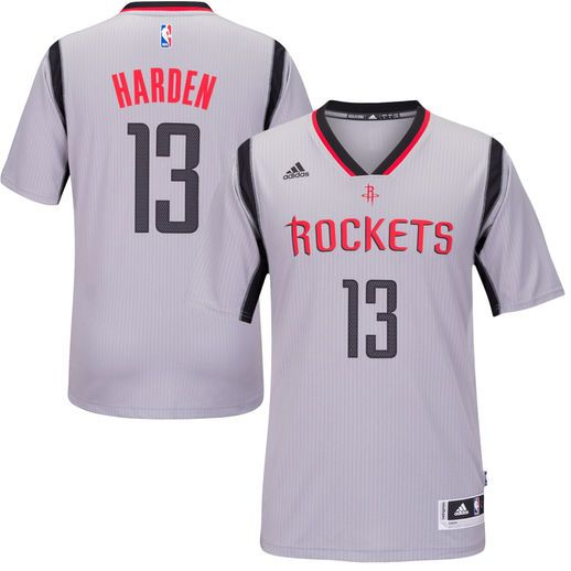 3a6a52156 adidas James Harden Houston Rockets Gray New Swingman Alternate Jersey