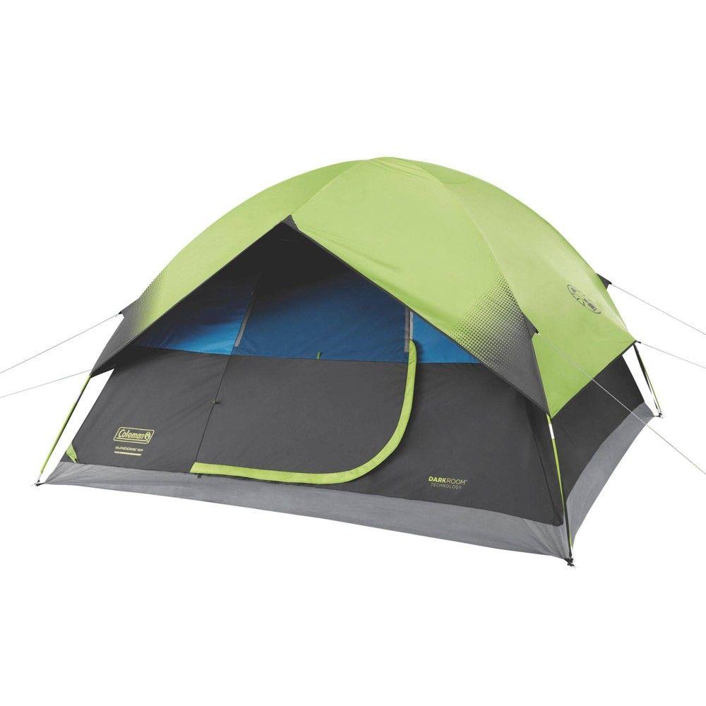 Coleman 6 Person Dark Room Sundome Tent Green In 2020 Dome Tent 6 Person Tent Dark Room