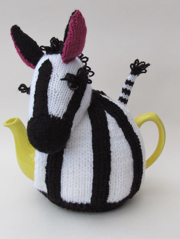 Zebra tea cosy knitting pattern   Teteras