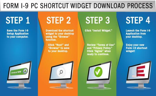 form i-9 widget  Form I-133 PC Shortcut Widget Download Process: Step 13 - Save ...