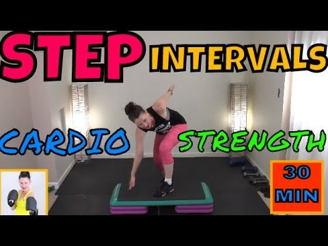 Step Interval Exercises,Strength Training for Beginners,Low Impact STEP,Cardio Step Intervals - YouTube