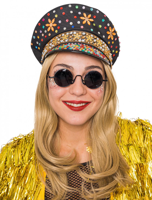 Kappe Deluxe Mit Steinen Bunt Fur Karneval Fasching Deiters Kappe Deiters Party Outfit