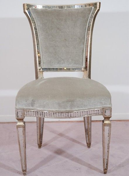 Hollywood Regency Mirrored Chair