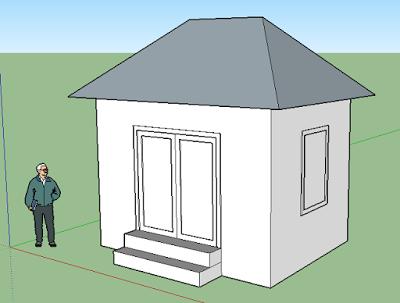 tutorial membuat rumah sederhana dengan sketchup
