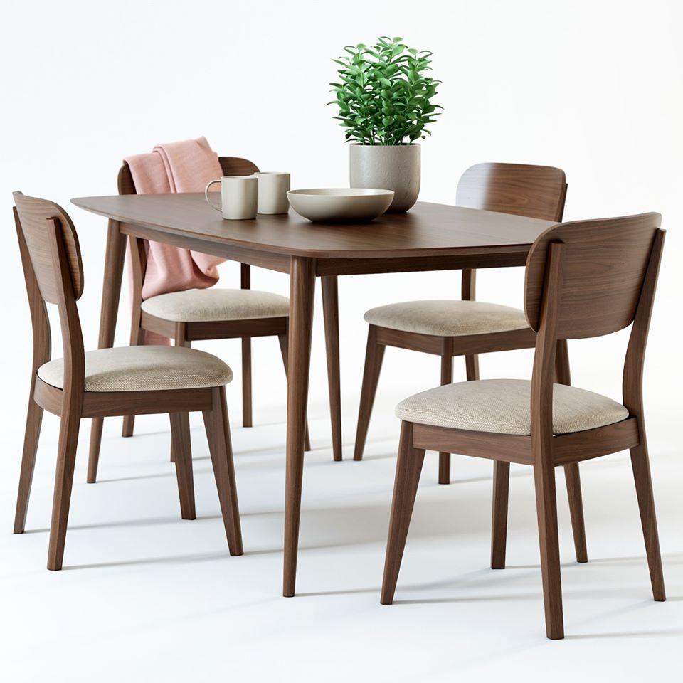 2627 Dining Table And Chair Sketchup Model By Dennguyen Free