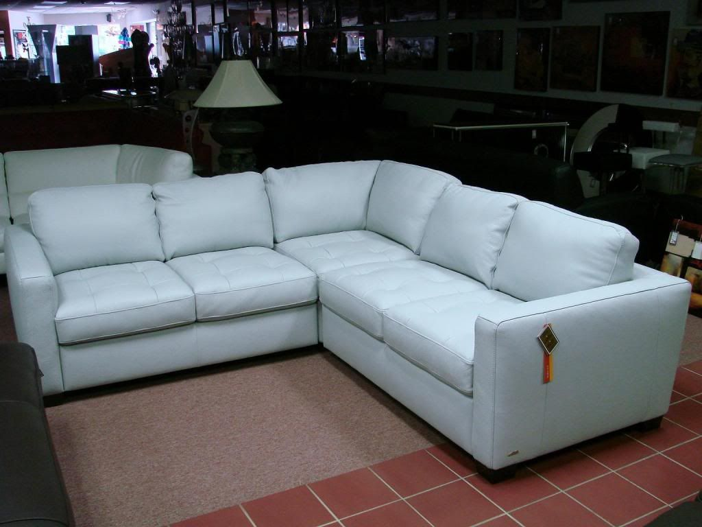 Cool Ice Blue Leather Sofa Awesome