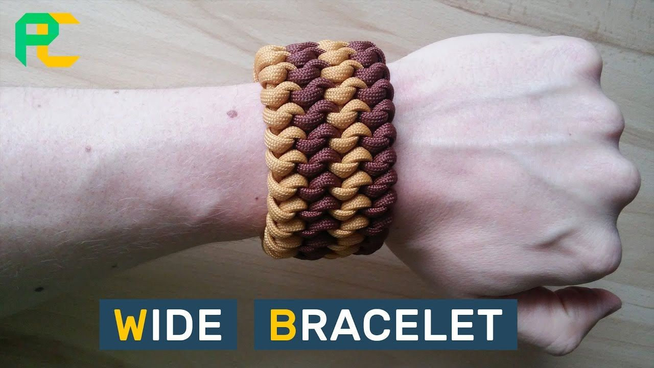Wide Paracord Bracelet Mated Snake Knot 4 Rows Youtube