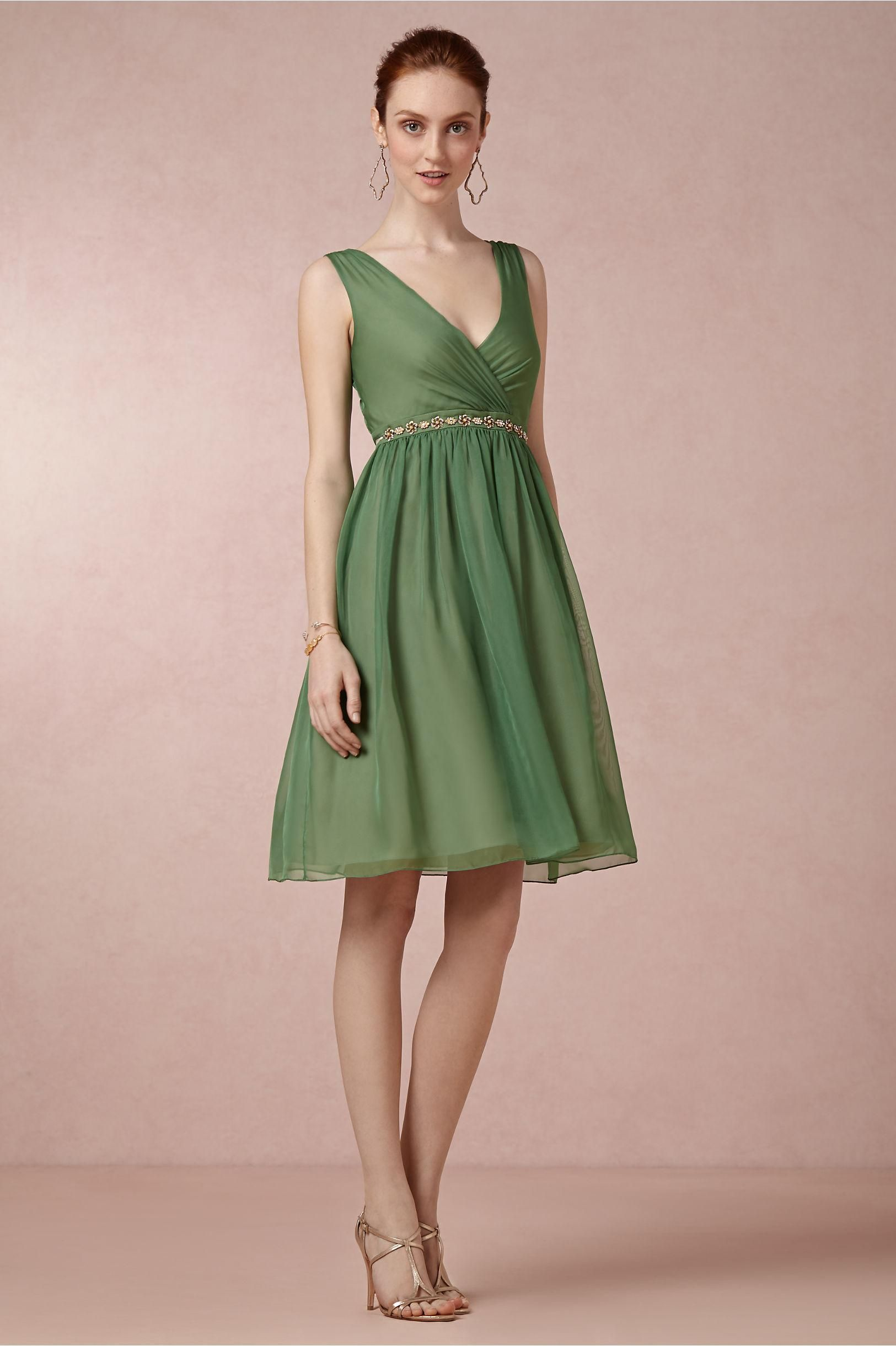 Ivy Green bridesmaids dress from BHLDN. The \