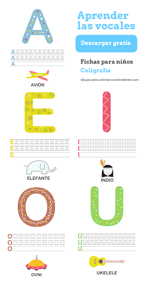 Aprender las vocales  SPANISH Learning  Pinterest  Spanish