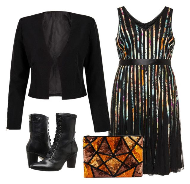 """""""Dress with Blazer"""" by sillycatgrl ❤ liked on Polyvore featuring Samya, WithChic and Johnston & Murphy"""