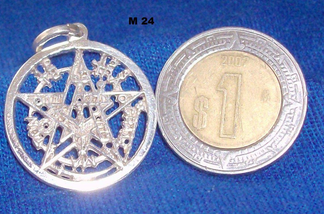 pentagrama en plata 9.25