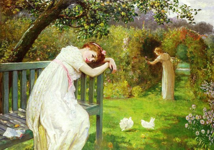 sunday-afternoon--ladies-in-a-garden-english-school-
