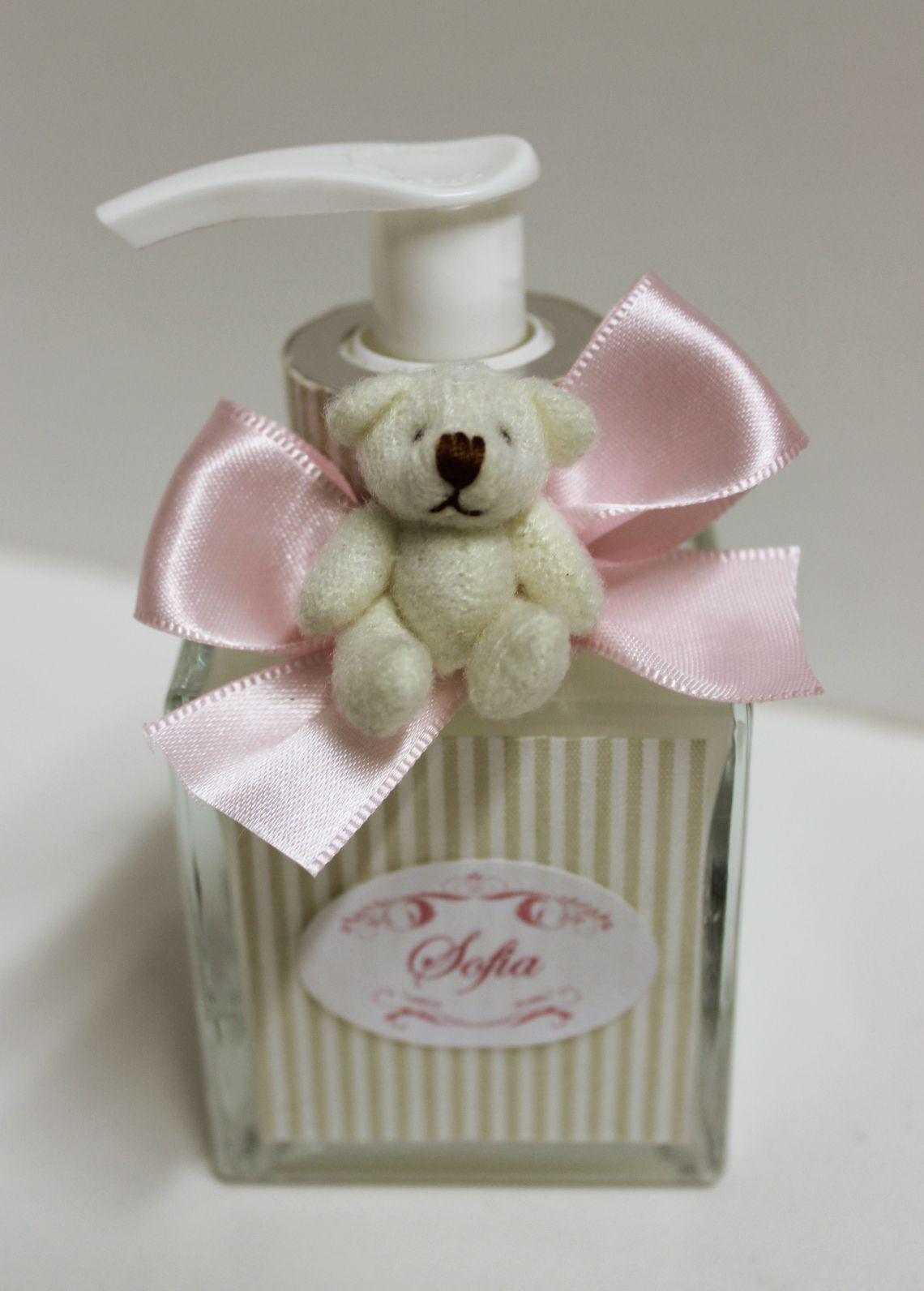 210397535af34 Lembrancinha para maternidade sabonete líquido personalizado  http   www.designetal.com.