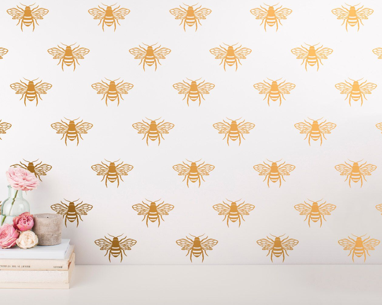 Bee wall decals unique vinyl wall decals gold decals bedroom bee wall decals unique vinyl wall decals gold decals bedroom decals living room decals wall decor wall stickers for gifts more amipublicfo Image collections