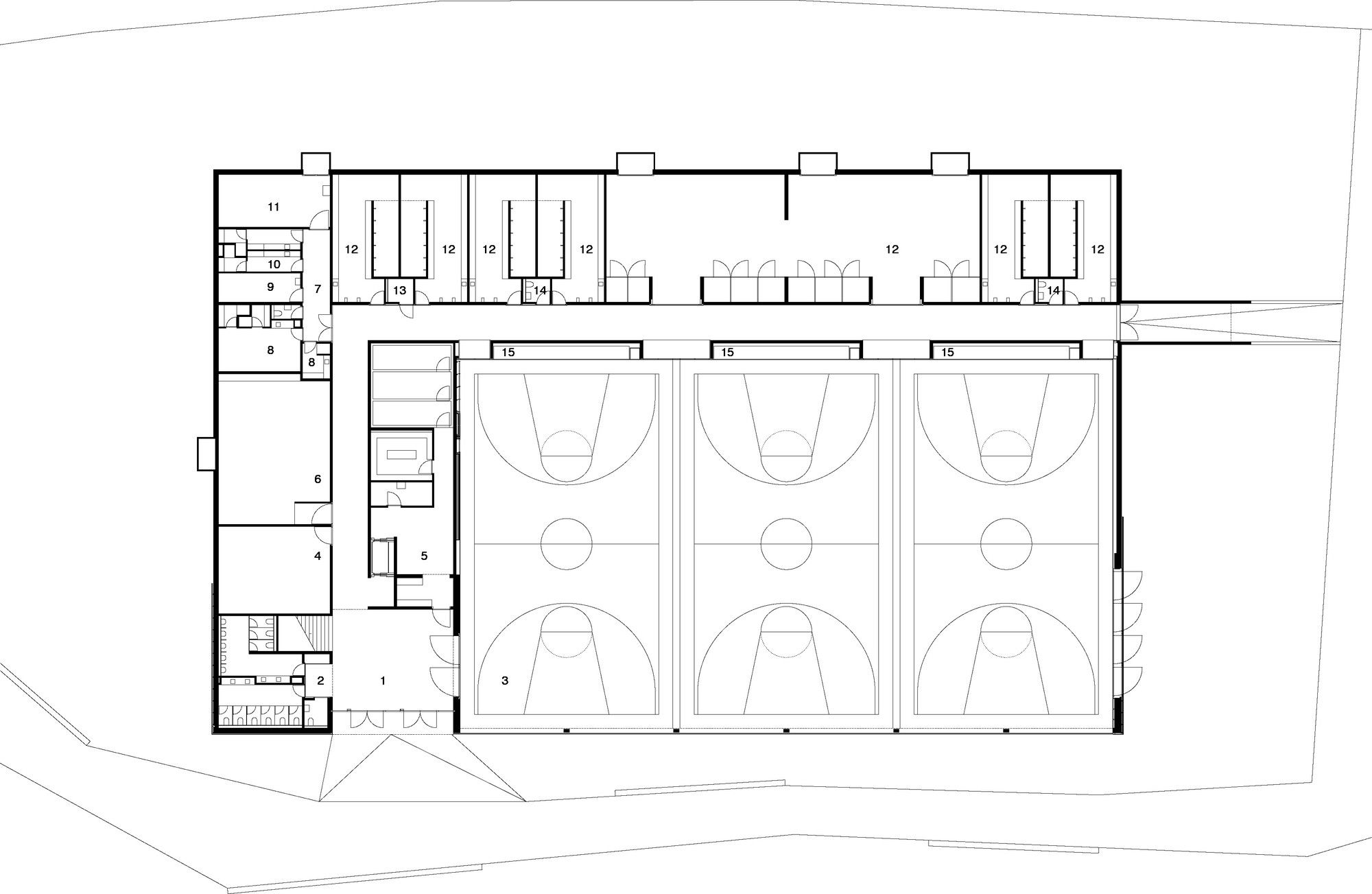 Gallery Of Lussy Sport Hall Virdis Architecture 17