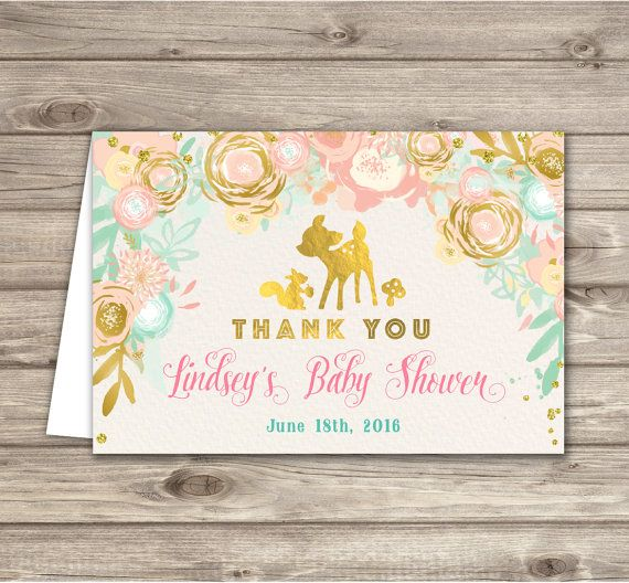 Baby shower thank you cards woodland deer dear pink by cardmint baby shower thank you cards woodland deer dear pink by cardmint baby shower invitation designs pinterest shower invitations woodland baby showers and filmwisefo