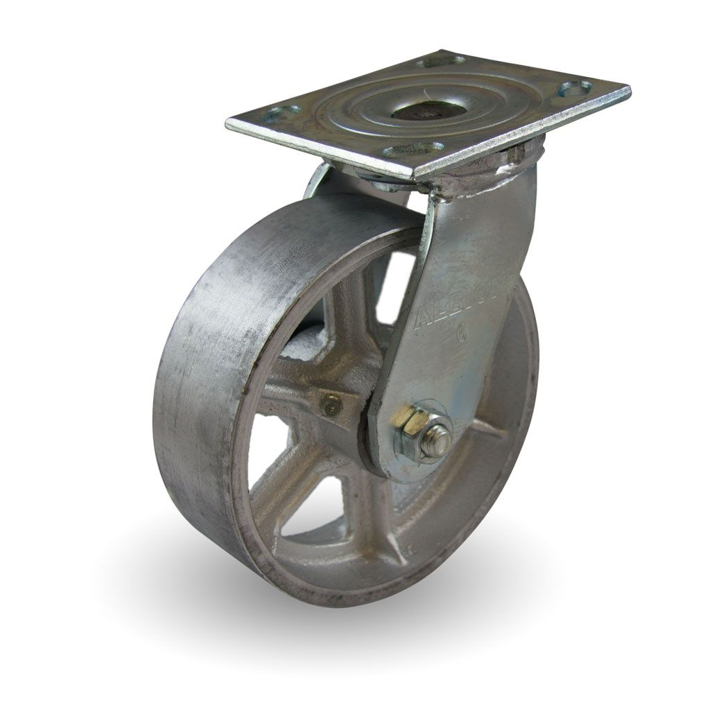 6 X 2 Cast Iron Wheel With Spokes Industrial Caster Industrial Casters Industrial Wheels It Cast