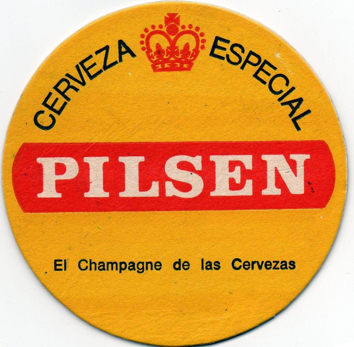 Pilsen El Champagne De Las Cervezas 70 80 Beer Coasters From  # Champagne Muebles Uy