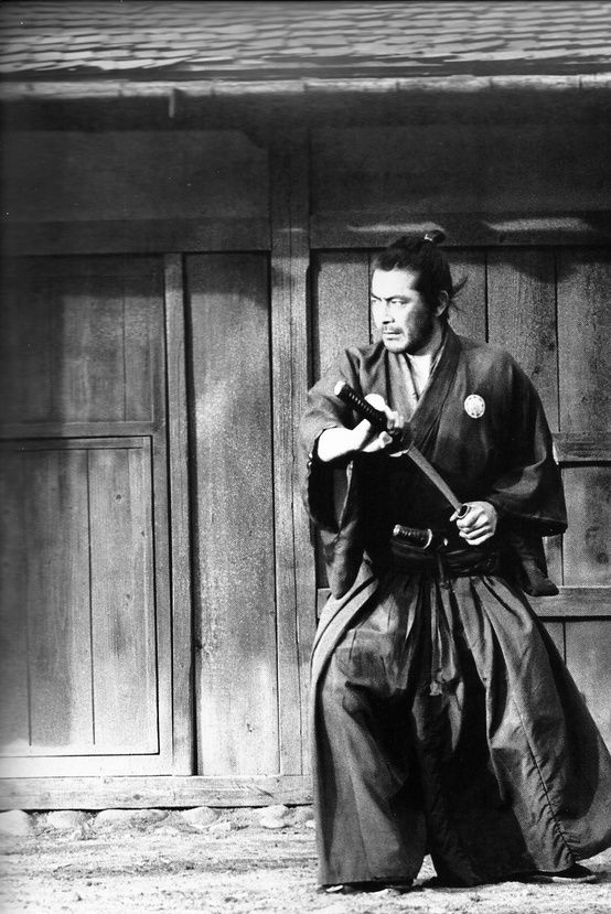 Toshiro Mifune in Yojimbo - Easily one of the best movies ever. Playing against ones paranoia