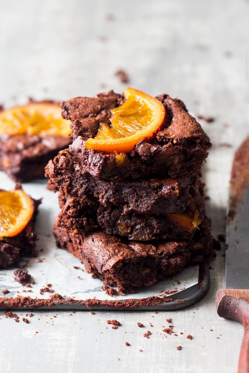 Photo of Gooey chocolate orange brownies – Lazy Cat Kitchen