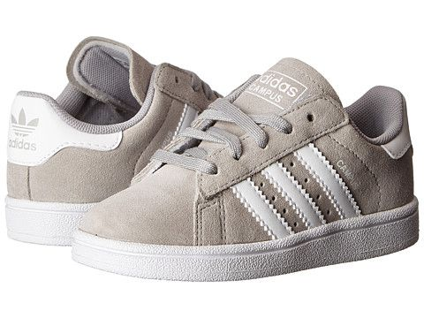 quality design bdafa 3292a adidas Originals Kids Campus 2 (Toddler) GreyWhite - Zappos.com Free  Shipping BOTH Ways