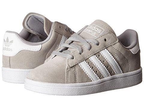 adidas Originals Kids Campus 2 (Toddler) Grey/White - Zappos.com Free Shipping BOTH Ways LOVE THESE!!