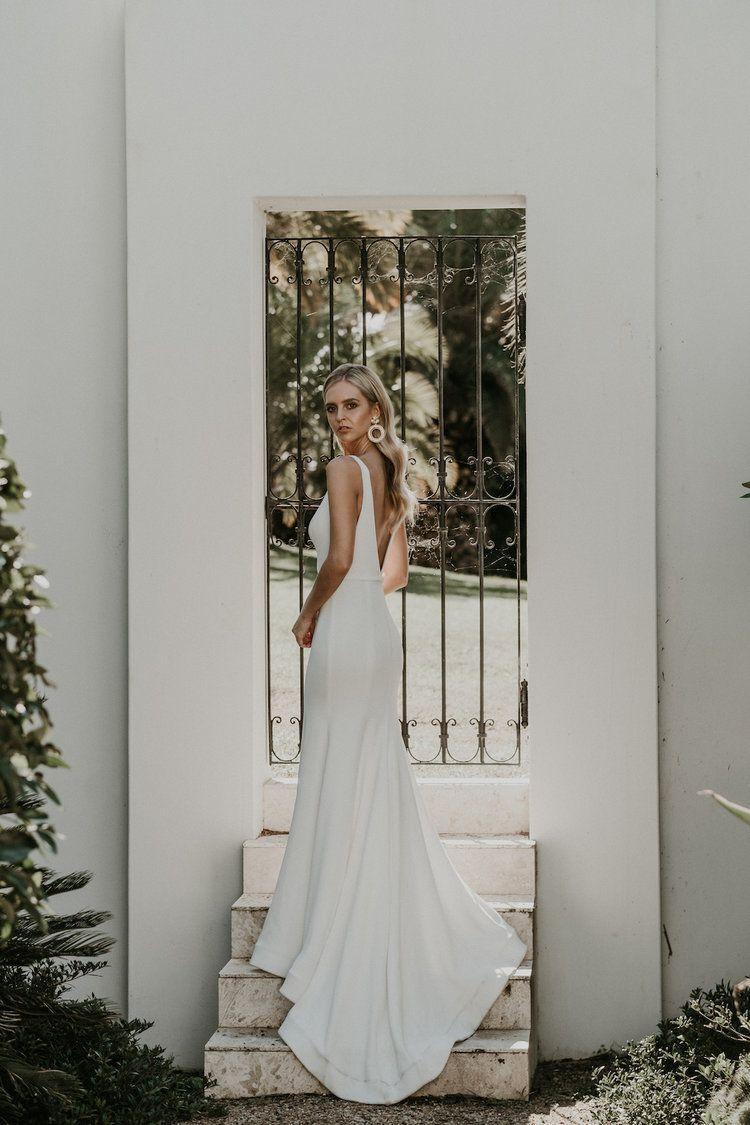 Simple modern wedding dress  BRIDE  Wedding dress Weddings and Simple weddings