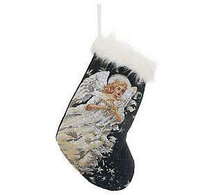 Holiday Decorative Fiber Optic Illuminated Stocking