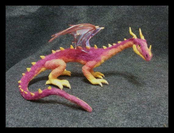 Felted Dragon #feltdragon