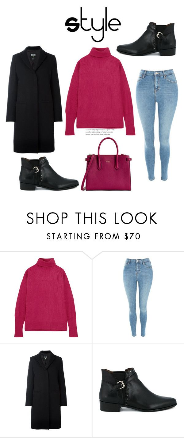 """580"" by meldiana ❤ liked on Polyvore featuring Maison Margiela, Topshop, MSGM, Tabitha Simmons and Furla"