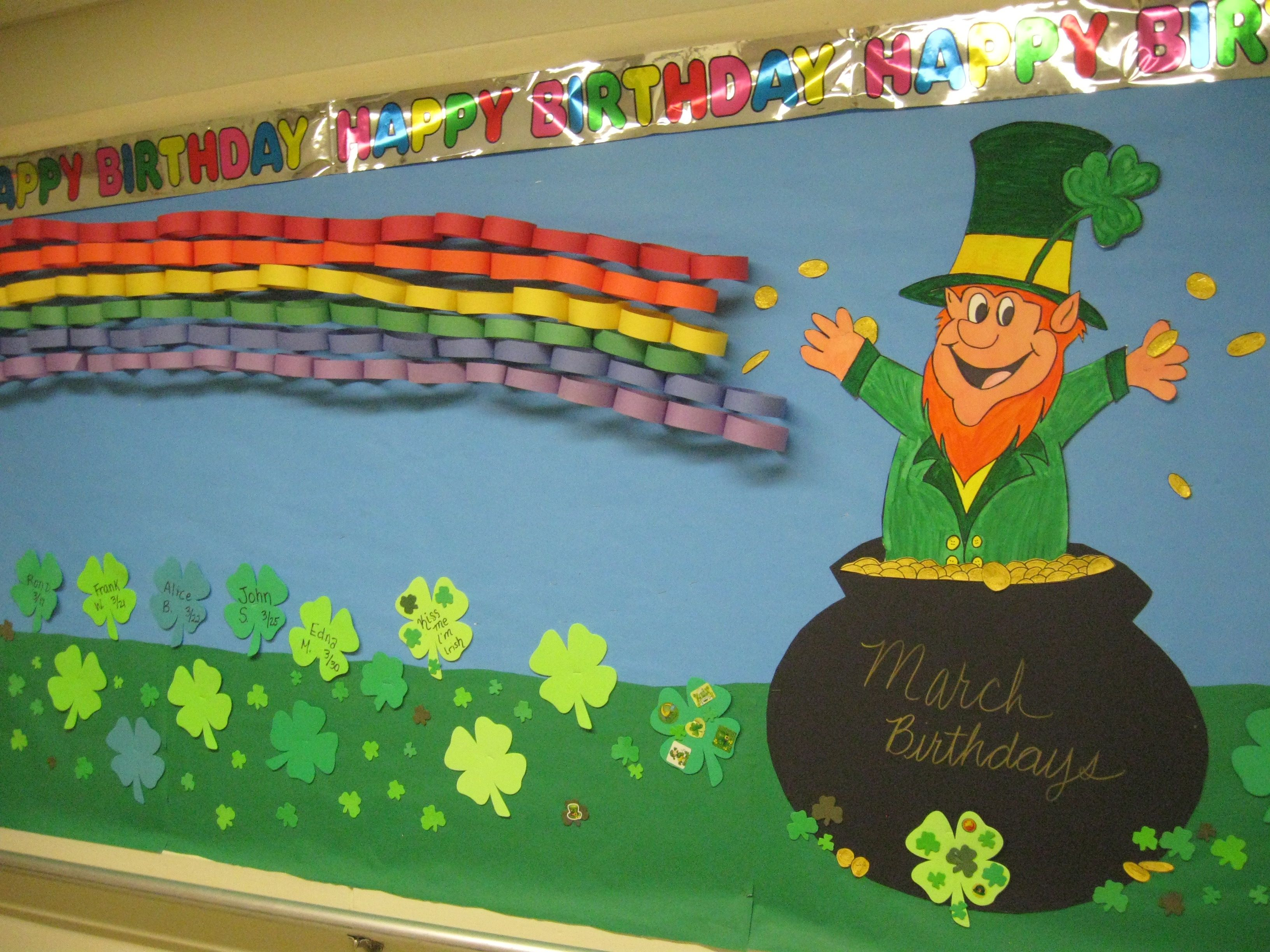 March Birthday Bulletin Board At The Nursing Home Boards Holiday