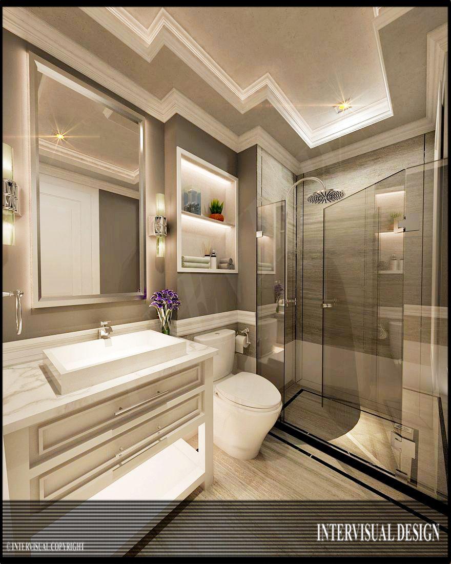 Desain kamar mandi minimalis mewah dan elegan  Portofolio By