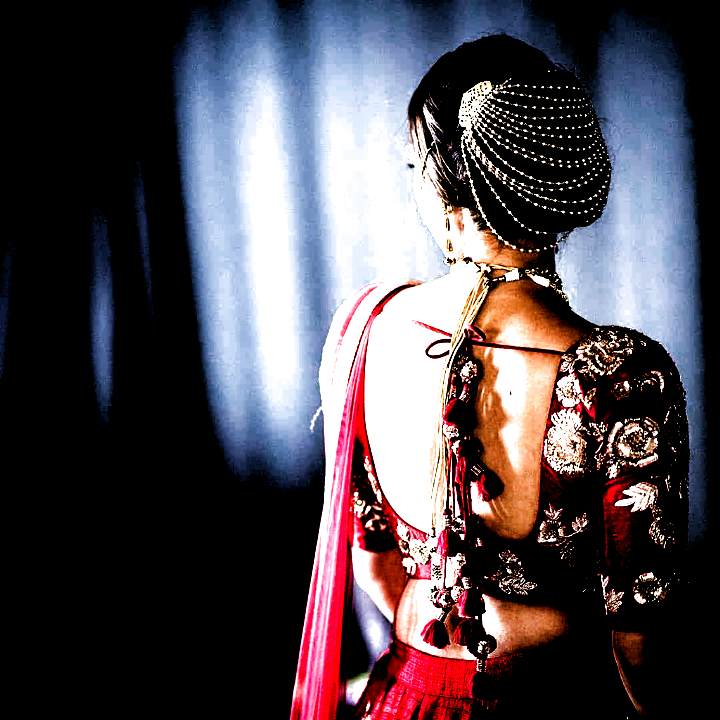 Hairstyle With Lehenga Low Buns Indian Weddings ; Hairstyle On Lehenga Indian Weddings
