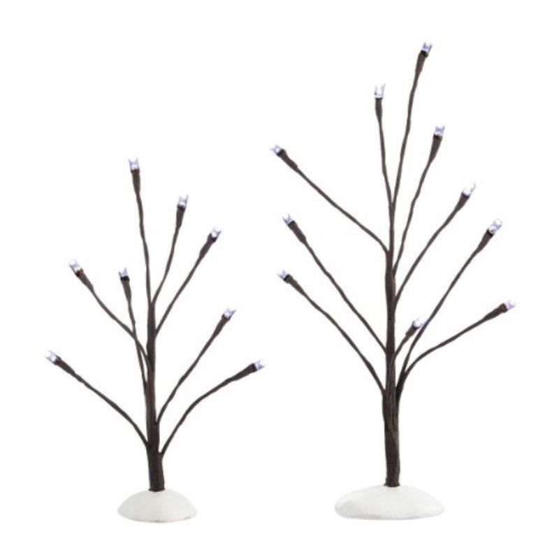 Department 56 Accessories For Villages White Light Bare Branch Trees 10 24 Inc Ebay Link White Light Tree Branches Light Up