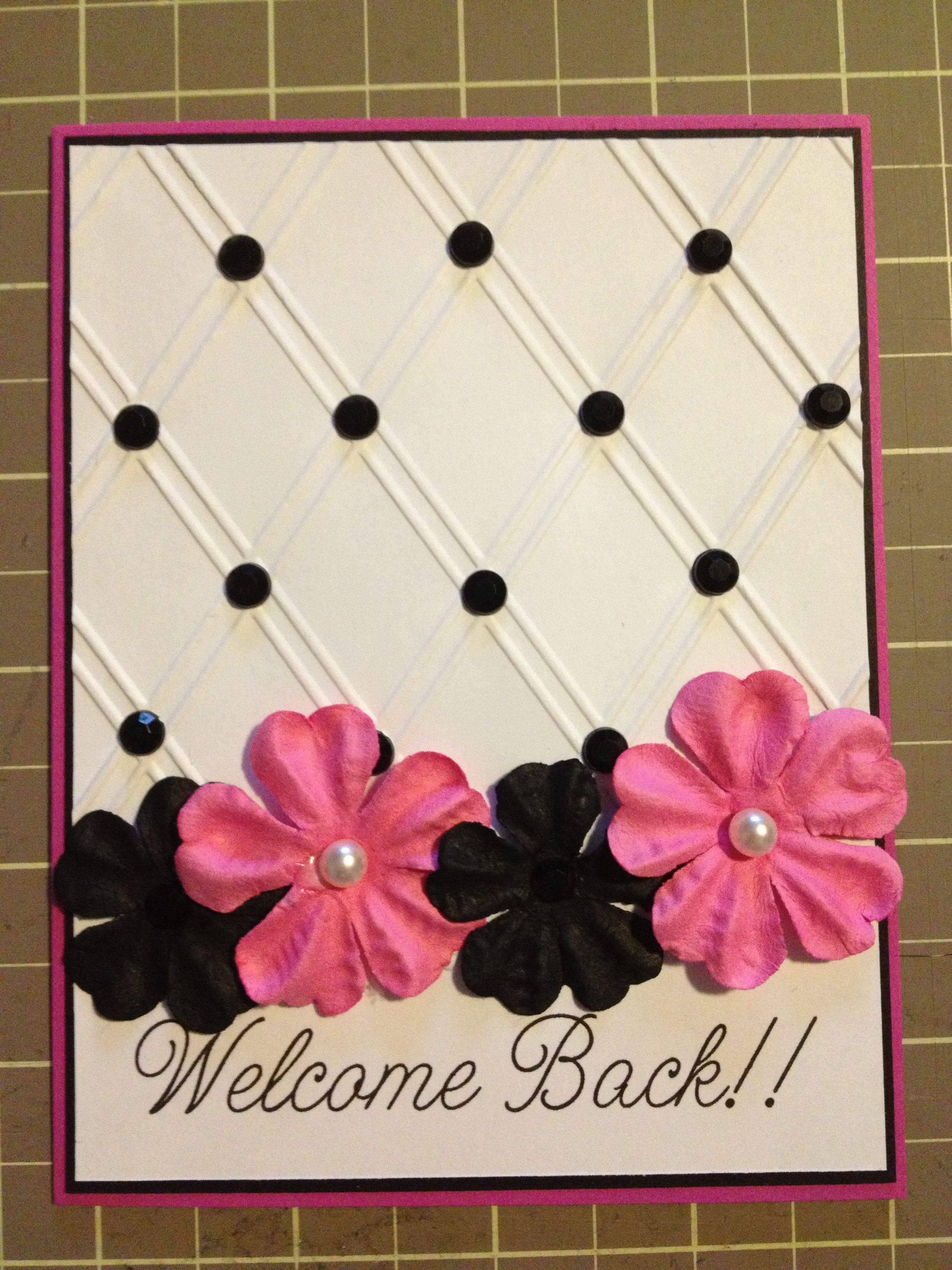 Welcome Back Card Valentines Cards Valentine Greeting Cards