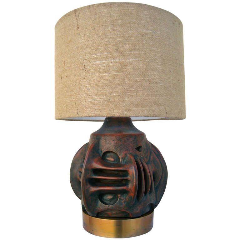 60s BRUTALIST Sculpture lamp