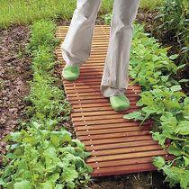 Etonnant 5u0027 Wood Plank Garden Bridge With Rails | Improvements