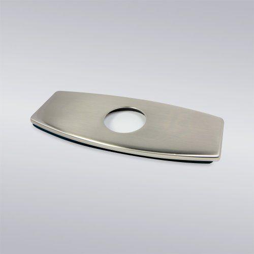 "Decor Star PLATE-6B Bathroom Vessel Vanity Sink Faucet 4"" Hole Cover Deck Plate Escutcheon Brushed Nickel"