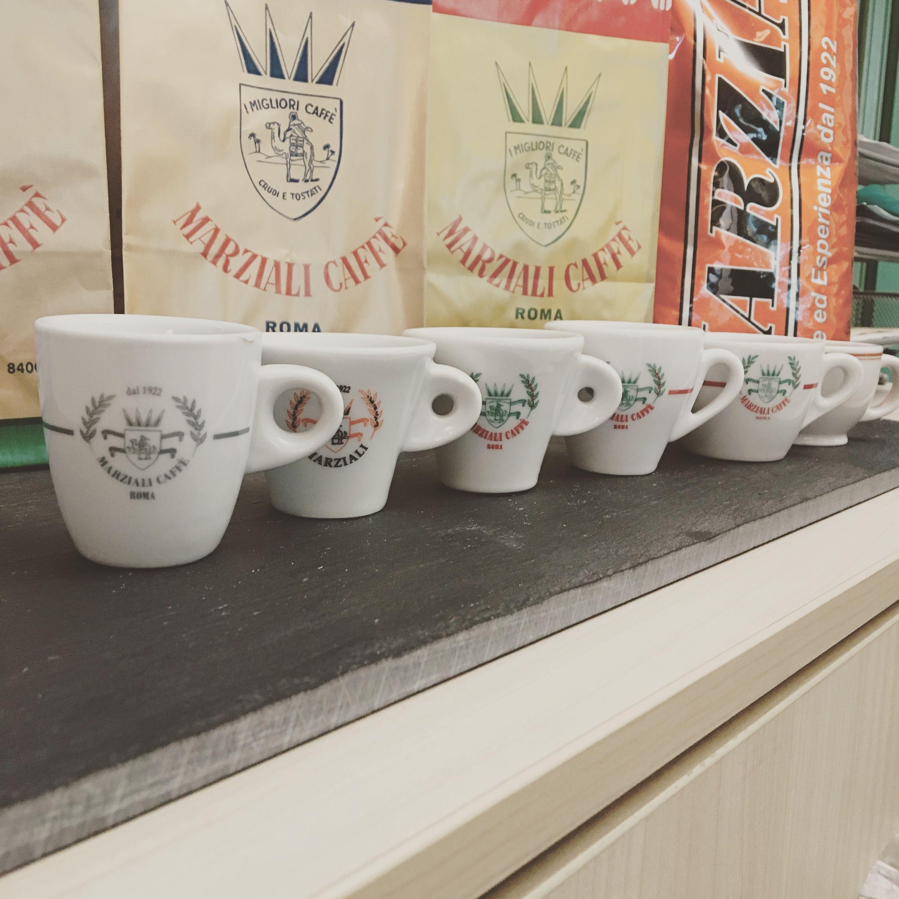 Marziali caffè coffee cups since 1922