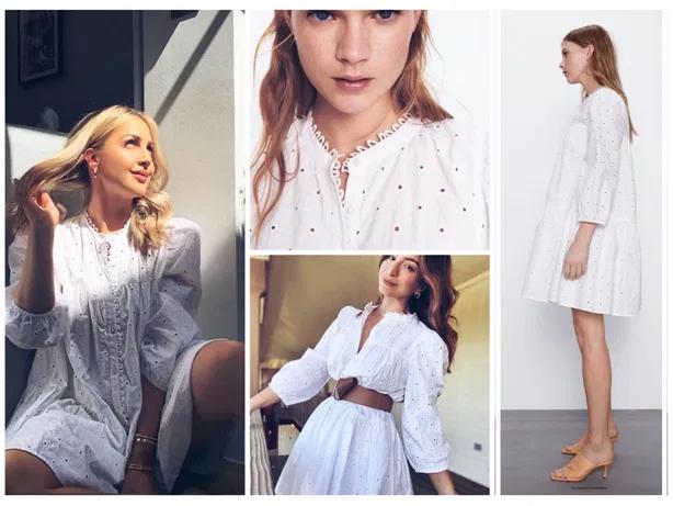 Zara Sukienka Z Azurowym Haftem Bydgoszcz Olx Pl Open Shoulder Tops Fashion Women