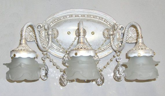 Shabby Chic Bathroom Vanity Light 2 Or 3 Light Bathbar Or Shabby