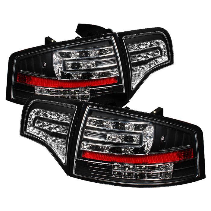 Black LED Taillights Fit Audi A4 2006, 2007, 2008