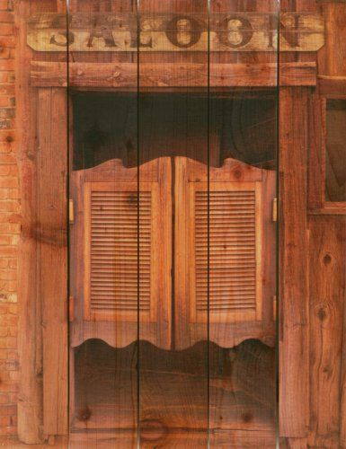 Saloon Door on Cedar Inside Outside Wall Hanging Art Wooden Home Decor Saloon Bar & photo booth props | WESTERN WEDDINGS | Pinterest | Photo booth