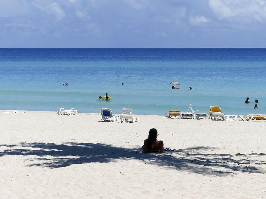 Kuba Cuba Beach Shore Water Sea Girl Woman