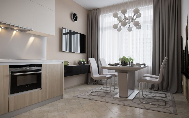 Innenarchitektur wohnzimmer für kleine wohnung minimalistisches konzept  kleines apartment design von igor glushan