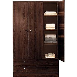 Buy New Malibu 3 Door 4 Drawer Wardrobe - Wenge Effect at Argos.co.uk, visit Argos.co.uk to shop online for Wardrobes