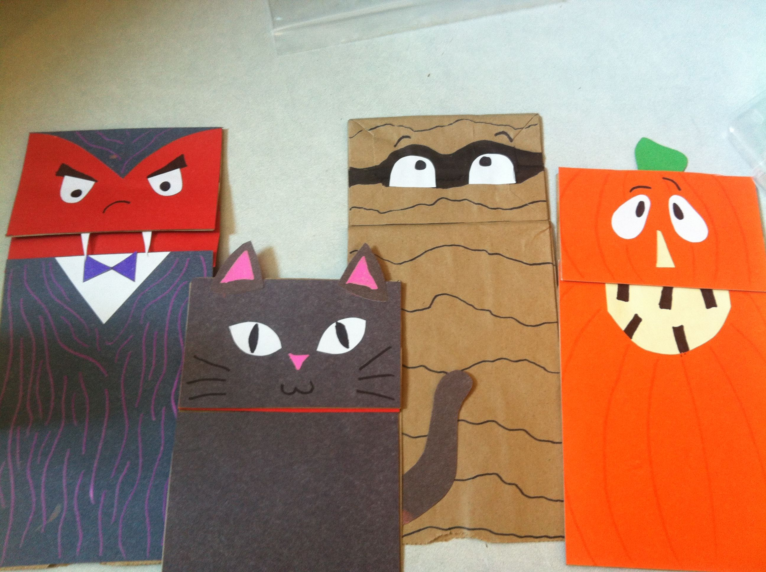Paper bag puppets for halloween d kids crafts pinterest paper bag puppets for halloween d jeuxipadfo Choice Image