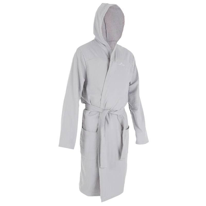Bademantel leichte Baumwolle mit Gürtel, Taschen und Kapuze Herren ...