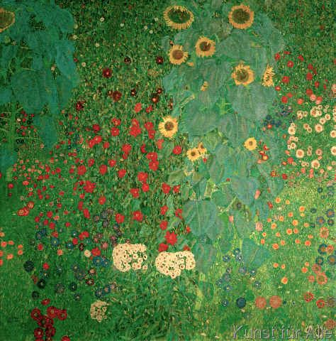 Gustav Klimt Garten Mit Sonnenblumen Kunstdruck Leinwandbild Gerahmtes Bild Klimt Art Gustav Klimt Klimt Paintings